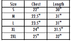 Product Sizing Guide